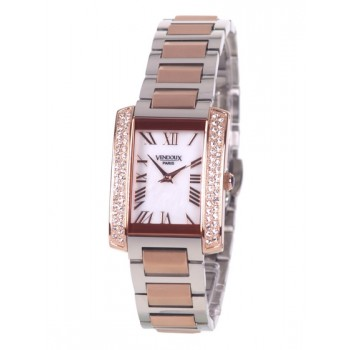 Vendoux Bicolour Rose Horloge Dames 66000